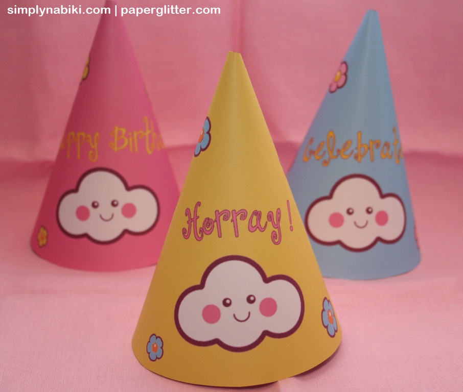 cloud party hats