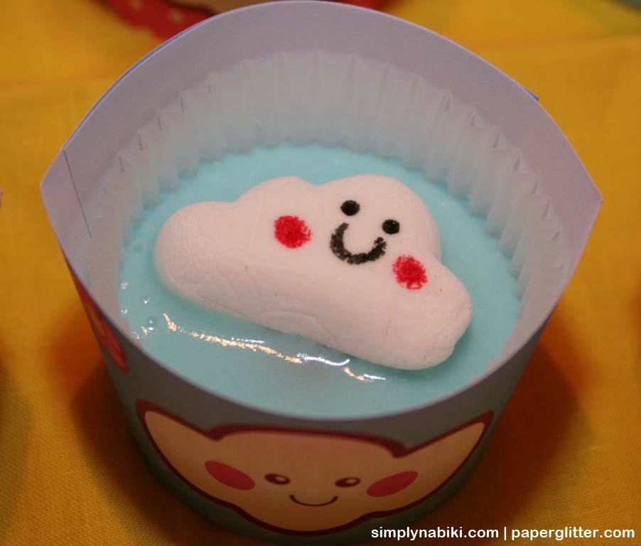 blue cloud cupcake