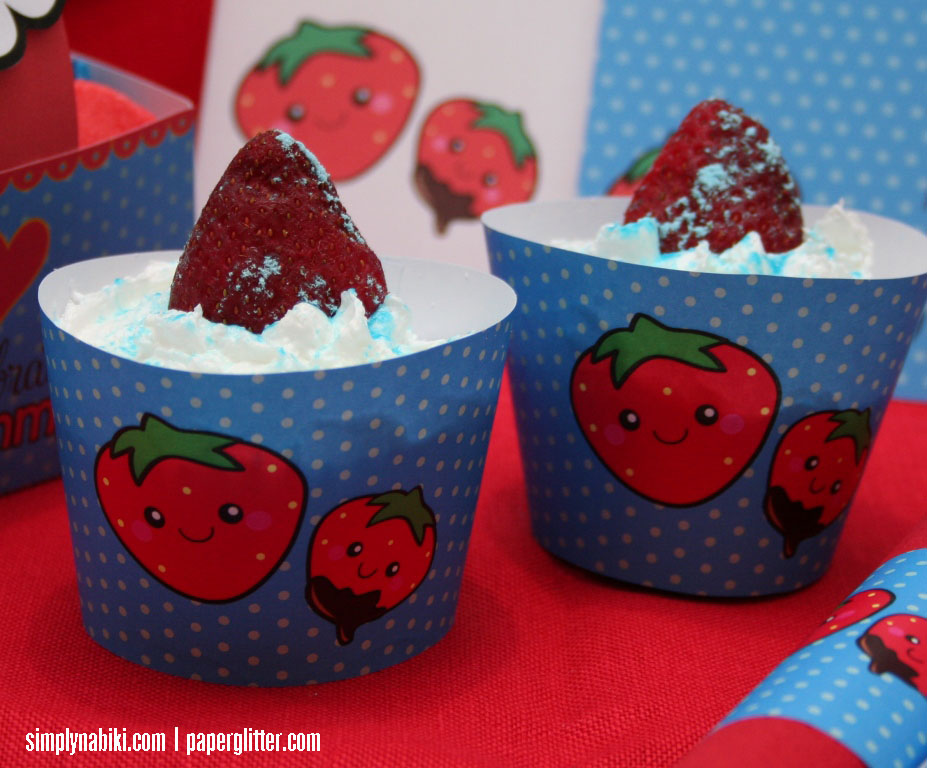 strawberry cupcakes wrappers