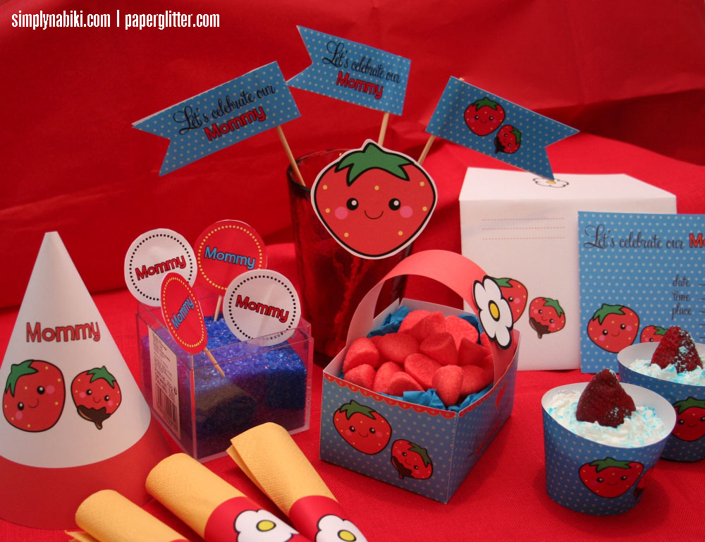 strawberry party kit mother's day